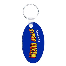 "Gottlieb® ""Gypsy Queen"" Aluminum Oval Keychain"