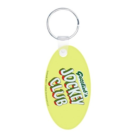 "Gottlieb® ""Jockey Club"" Aluminum Oval Keychain"
