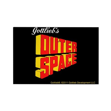 Gottlieb&reg; &quot;Outer Space&quot; Rectangle Magnet