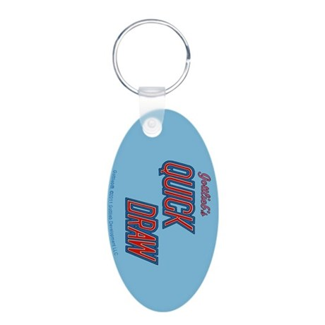 Gottlieb&reg; &quot;Quick Draw&quot; Aluminum Oval Keychain