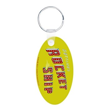 "Gottlieb® ""Rocket Ship"" Aluminum Oval Keychain"