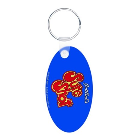 "Gottlieb® ""Sure Shot"" Aluminum Oval Keychain"