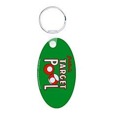 "Gottlieb® ""Target Pool"" Aluminum Oval Keychain"