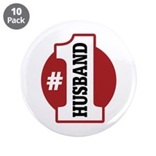 "#1 Husband 3.5"" Button (10 pack)"
