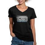 Fargin' Icehole! Women's V-Neck Dark T-Shirt
