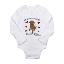 pit bull Long Sleeve Infant Bodysuit
