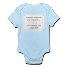 Unattended Children Sign Infant Bodysuit
