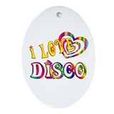 I Love Disco Ornament (Oval)
