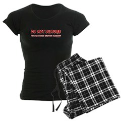 I'm Disturbed Women's Dark Pajamas