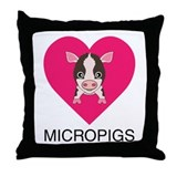 Love Micropigs Throw Pillow