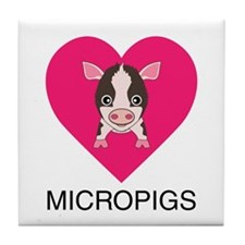 Love Micropigs Tile Coaster