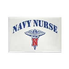 Navy Nurse Rectangle Magnet
