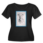 Dalmatian Women's Plus Size Scoop Neck Dark T-Shir