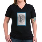Dalmatian Women's V-Neck Dark T-Shirt