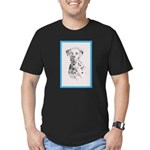 Dalmatian Men's Fitted T-Shirt (dark)