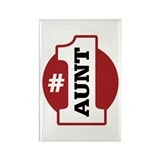#1 Aunt Rectangle Magnet
