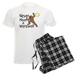 Moon A Werewolf Men's Light Pajamas