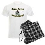 Jesus Saves Men's Light Pajamas