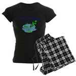 Froggy Dipping Women's Dark Pajamas