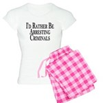 Rather Arrest Criminals Women's Light Pajamas