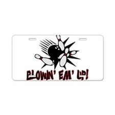 Blowin' Em' Up Aluminum License Plate