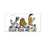 Veggie Runs Aluminum License Plate