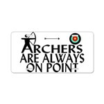 Archers On Point Aluminum License Plate
