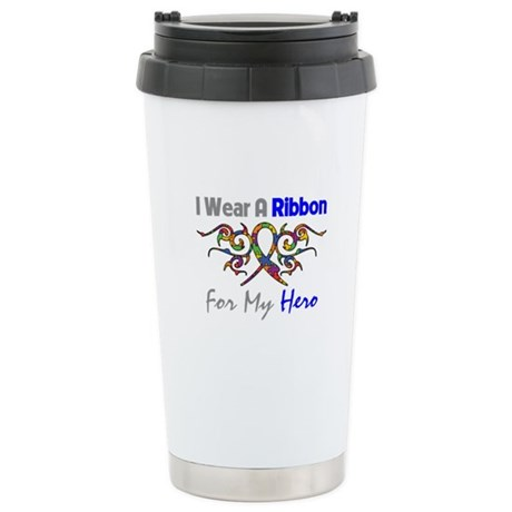 Autism Ribbon Hero Ceramic Travel Mug