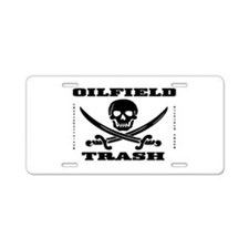 Oil Field Trash,Skull Aluminum License Plate