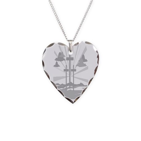 Calvary Necklace Heart Charm