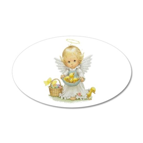 Easter Angel 38.5 x 24.5 Oval Wall Peel