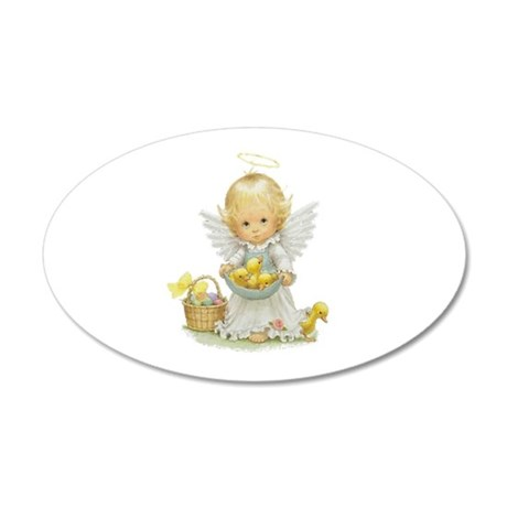 Easter Angel 22x14 Oval Wall Peel
