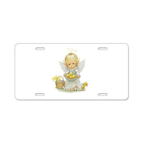 Easter Angel Aluminum License Plate