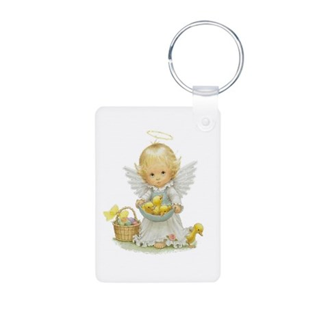 Easter Angel Aluminum Photo Keychain