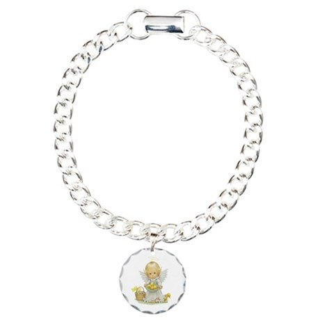 Easter Angel Charm Bracelet, One Charm