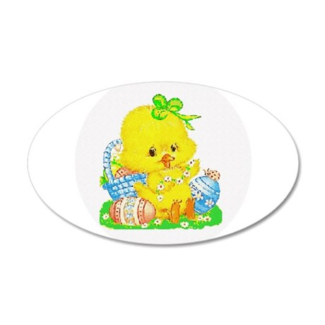 Easter Duckling 38.5 x 24.5 Oval Wall Peel