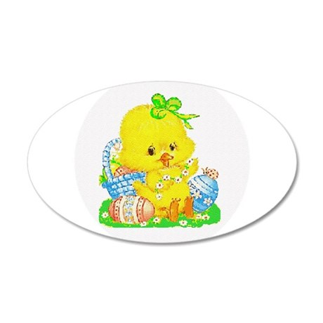 Easter Duckling 22x14 Oval Wall Peel