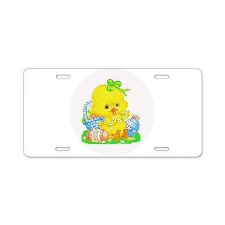 Easter Duckling Aluminum License Plate