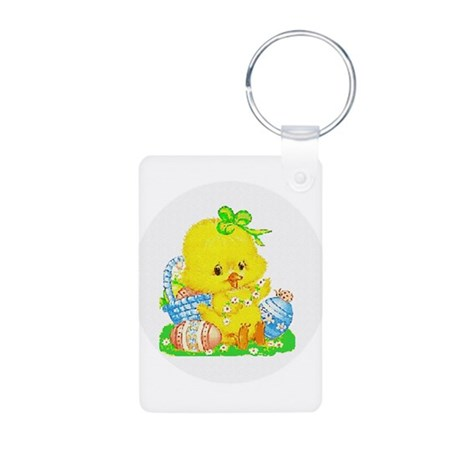 Easter Duckling Aluminum Photo Keychain
