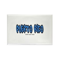 Puerto Rico Graffiti Rectangle Magnet