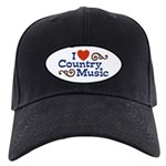I Love Country Music Black Cap