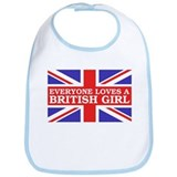 Everyone Loves a British Girl Bib