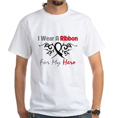 Melanoma Ribbon Hero White T-Shirt