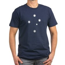 Southern Cross Men's Fitted T-Shirt (Dark)