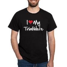 I heart my triathlete T-Shirt