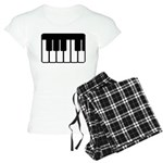 Women's Piano Keyboard Plaid Pajamas