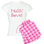 Cute Music Lover Women's Pink Pajamas