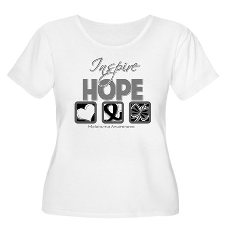 Melanoma Inspire Hope Women's Plus Size Scoop Neck