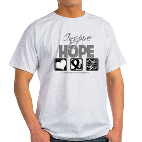 Melanoma Inspire Hope Light T-Shirt