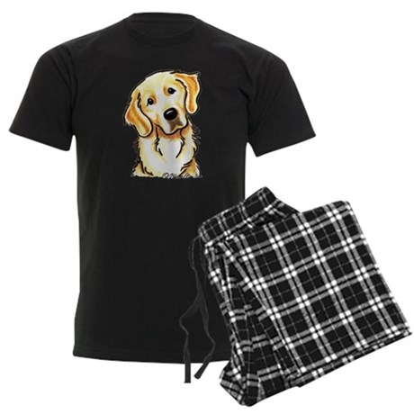 Golden Retriever Portrait Men's Dark Pajamas